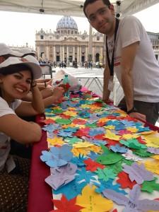 Iinfiorata Roma 2016 - attività dei volontari del servizio civile