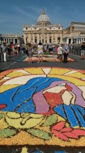 Infiorata Roma 2016 - Rione Borgo Bracciano opera finita