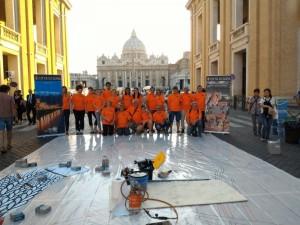 Infiorata Roma 2016 -  infioratori di Sora a San Pietro