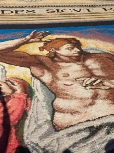 Infiorata Roma 2016 - dettaglio quadro di Truciolinarte da Torricella Sicura