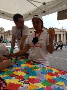 Infiorata Roma 2016 - l'angolo dei bimbi organizzato dalla Pro Loco