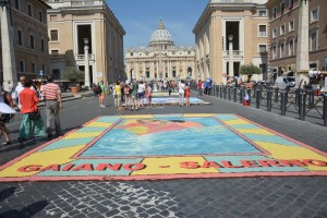 Infiorata Roma 2016 - quadro Gaiano Salerno