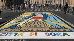 Infiorata Roma 2016 - quadro cittá di Sora