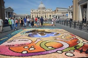 Infiorata Roma 2016 - quadro del gruppo di Neviano