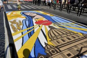 Infiorata Roma 2016 - quadro dell'associazione Torrione di Sora