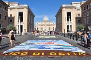 Infiorata Roma 2016 - quadro di Ostia su via della Conciliazione
