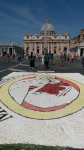 Infiorata di Roma 2016 - quadeo Mater Misericordiae al mattino